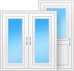 Прямоугольные окна и двери белого цвета
