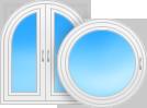 Архитектурные окна и двери белого цвета