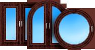 Прямоугольные и архитектурные окна и двери, декорированные с одной или двух сторон