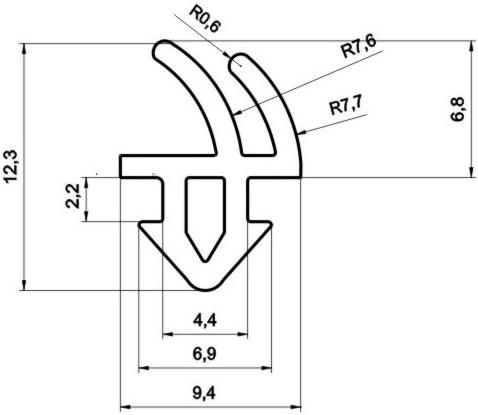 Уплотнитель для пластиковых окон и дверей Rehau